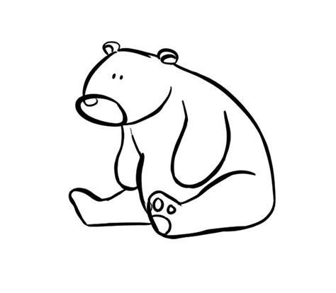 imágenes de osos fáciles para dibujar oso sentado dibujos para colorear
