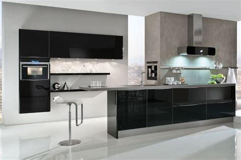 black gloss kitchen ideas glass kitchens from lwk kitchens