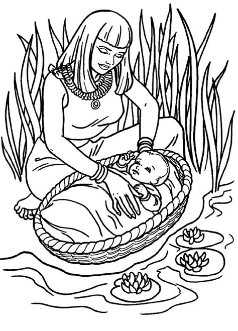 coloring page of the nile river moses found safely in river of nile coloring page color luna