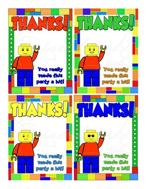 printable lego birthday thank you cards lego man thank you cards