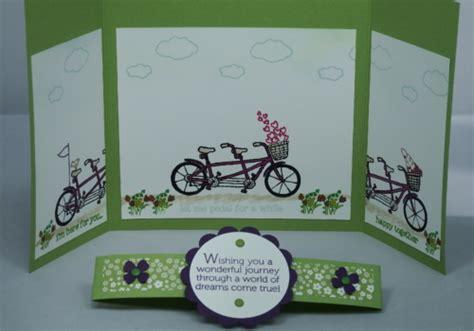 Handmade Card Supplies - handmade gatefold card using stin up supplies arty