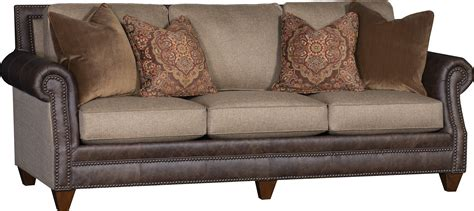 sofas with leather and fabric king hickory thesofa