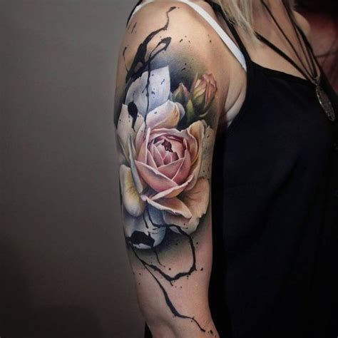 flower tattoo quarter sleeve quarter sleeve tattoo ideas for men and women 2018