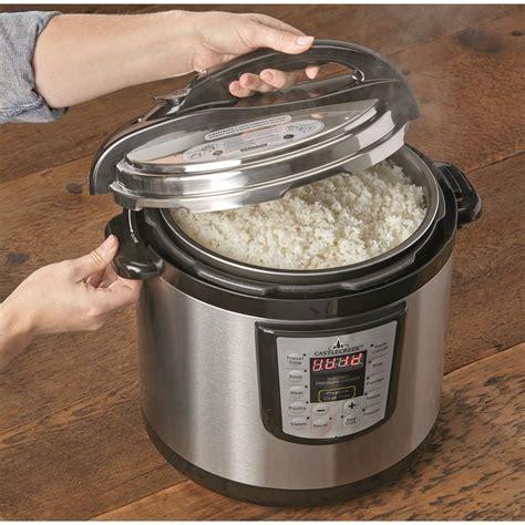 castlecreek electric pressure cooker 10 5 quart 664937