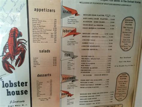 lobster house menu classic menu foto di the lobster house cape may tripadvisor