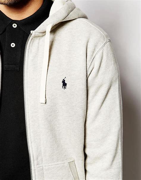 Polos Zip Hoodie classic polo ralph hoodies grey fashion polo ralph plain jersey zip up hoodie