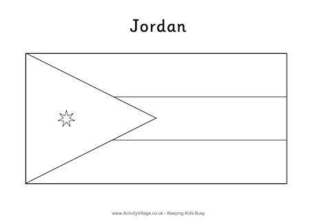 jordan flag colouring page