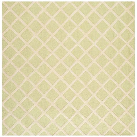 8 Foot Square Area Rug Safavieh Cambridge Light Green Ivory 8 Ft X 8 Ft Square