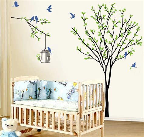 stickers de pour chambre stickers pour la chambre de b 233 b 233 arbre archzine fr