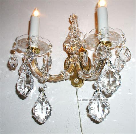 Wand Kristallleuchter antiker kristall leuchter wand l 252 ster applike bleikristall