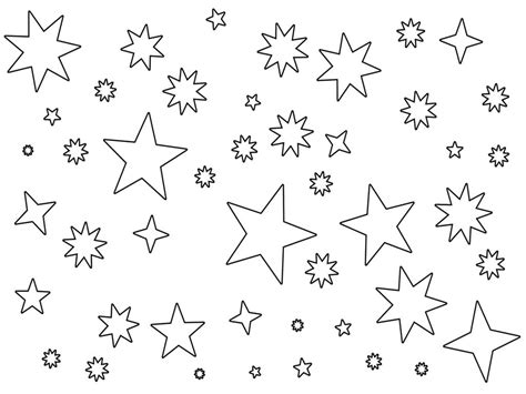 printable star coloring pages star coloring pages