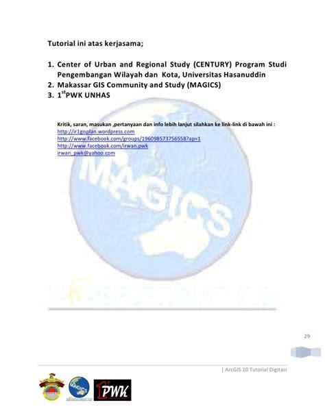 tutorial arcgis 10 tingkat lanjut digitasi