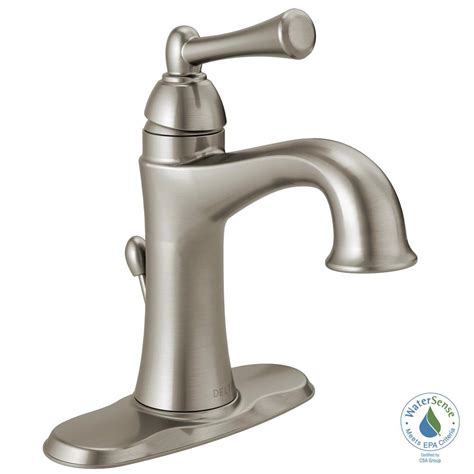 delta rila 4 in centerset single handle bathroom faucet