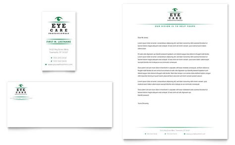 business letterhead templates indesign optometrist optician business card letterhead template