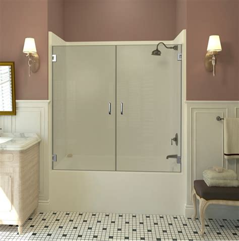 Double Dual Swinging Bathtub Doors Dulles Glass Swinging Glass Shower Door