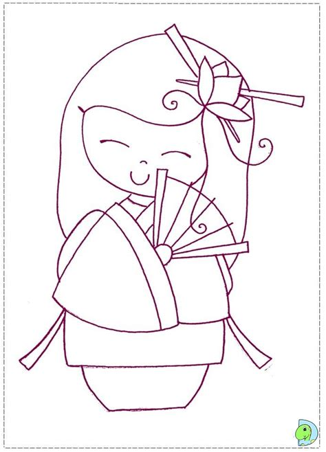 coloring pages kokeshi dolls free coloring pages of dolls