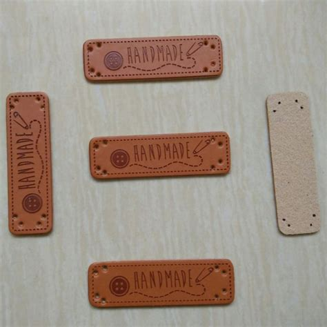 Handmade By Labels Sewing - buy wholesale leather logo patches from china
