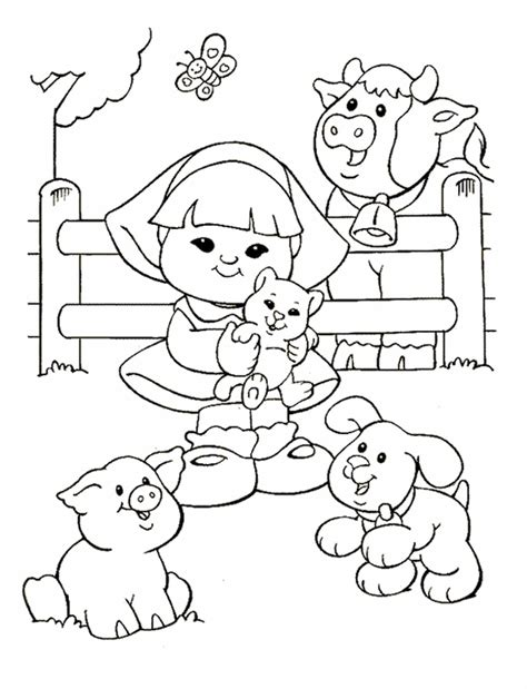 little people coloring pages az coloring pages