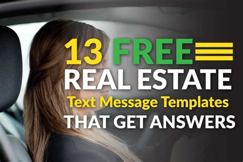 13 Free Real Estate Text Message Templates That Get You Answers Easy Agent Pro Real Estate Text Message Templates