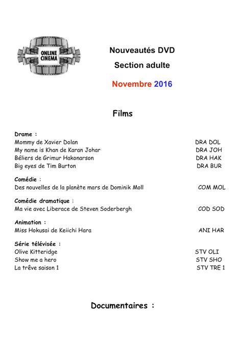 Calaméo - Nouveautés DVD Novembre 2016