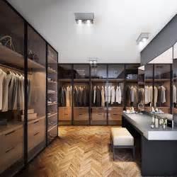 Pinewood closet smoked glass doors and perfect lighting