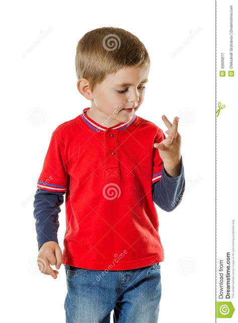 redknot counting 11 denim blue boy counting fingers stock image image of numbers