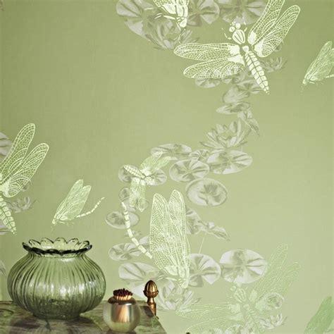 green wallpaper design ideas furniture peach green gray girls bedroom decor interior