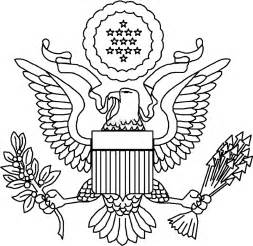 great seal of the united states coloring page coloring home