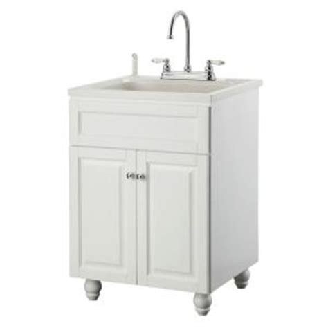 Laundry Room Sink Cabinet Home Depot by Foremost Bramlea 24 In Laundry Vanity In White And Abs