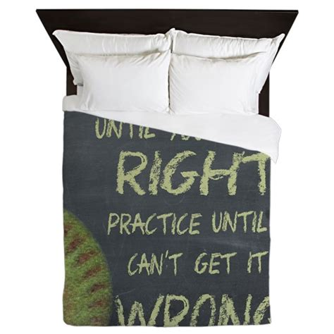 practice fastpitch softball motivation queen duvet by