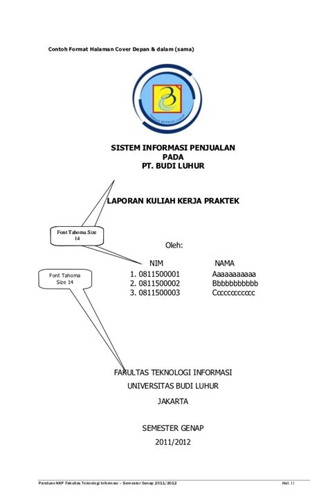 format makalah universitas panduan kkp genap 20112012