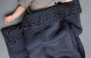 modele couverture bebe tricot debutant