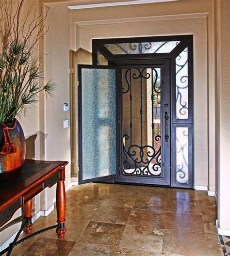 iron entry door by impression security doors modern