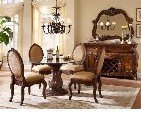dining room table sets michael amini lavelle melange finish round table dining