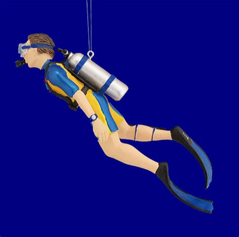 male scuba diver ornament