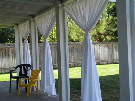 outdoor white curtains outdoor curtains for porch and patio designs 22 summer
