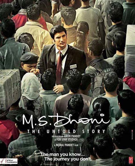 dhoni biography movie release date ms dhoni the untold story poster sushant singh rajput