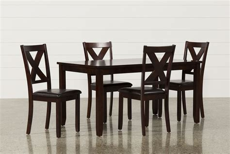 Living Spaces Dining Chairs Dakota 5 Dining Table W Side Chairs Living Spaces