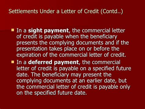 Letter Of Credit Expiration Date letter of credit