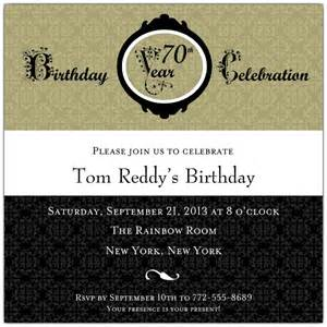 damask 70th birthday invitations paperstyle