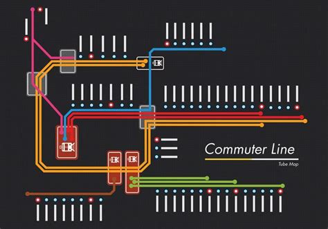 commuter  tube map vector design
