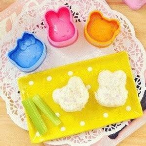 Cetakan Nasi Beruang jual cetakan nasi bento isi 3 pcs hello beruang kelinci frice molding reseller dropship