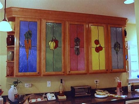 Stained Glass Kitchen Cabinets by 23 Best Stained Glass Cabinet Doors Images On