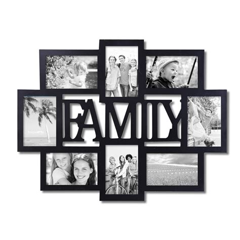 family collage photo frames adeco quot family quot 8 opening collage picture frame pf0432