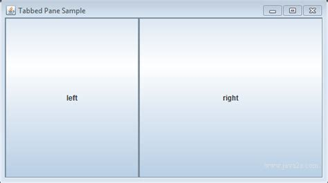 java swing split pane java tutorial set the size of the divider in a