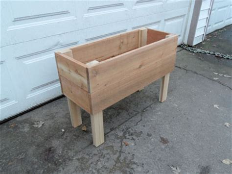 Standing Planter Box by Standing Cedar Planter Boxes