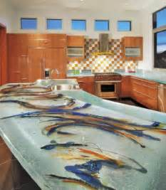 unique glass countertops for kitchens from thinkglass