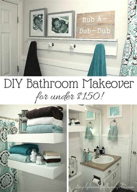 Simple Small Bathroom Makeovers by Simply Beautiful By Angela Bathroom Makeover On A Budget