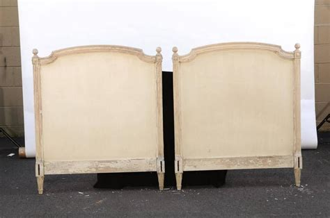 Style Headboards Sale pair of louis xvi style bed striped wood
