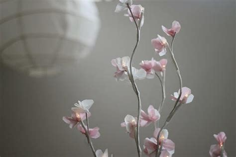 lighted cherry blossom branch centerpiece